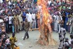 Video: Masquerade Set Ablaze In Ogun Comes Out Unhurt